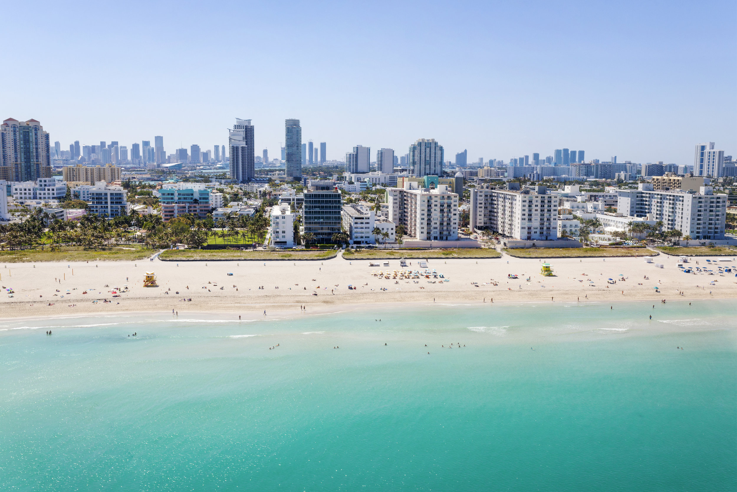 Miami Beach captured from a helicopter