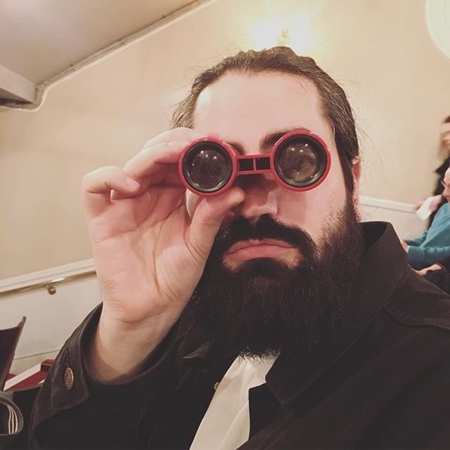 Night out at the theatre to see my main man @save_me_jon_snow in action #london #theatre #friday #fun #binoculars #eagleeyes