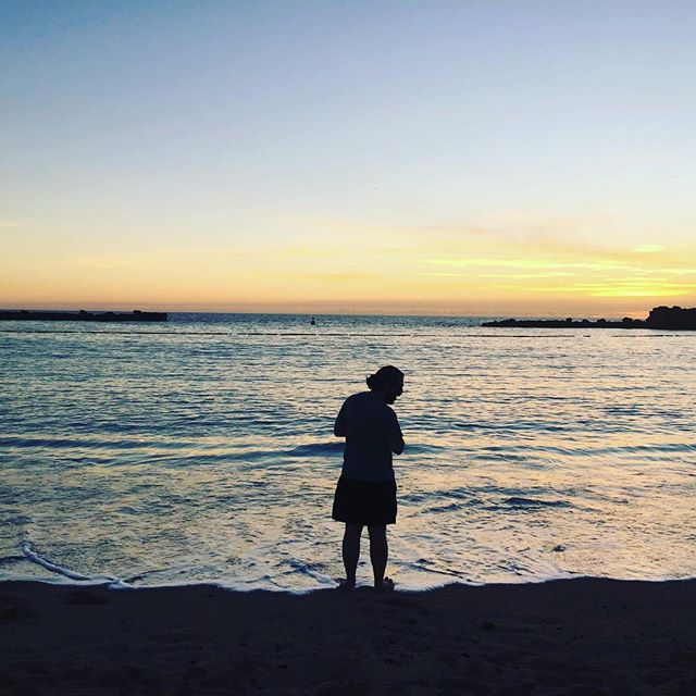 Touching the Atlantic #grancanaria #sunset #waterfront #beaching #dipyourtoes