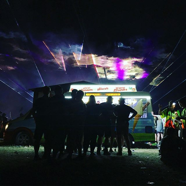 Magic ice cream truck @Glastonbury comes with a live Tame Impala soundtrack and everything #icecream #glastonbury #livemusic #summer #fun #truck #magic