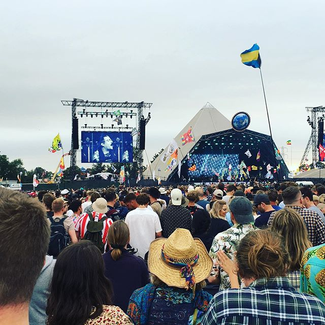 Nice touch of home listening to Liam @glastofest #lazerkiwi #live #music #rocknroll