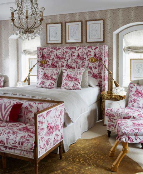 An upbeat bedroom,  elledecor