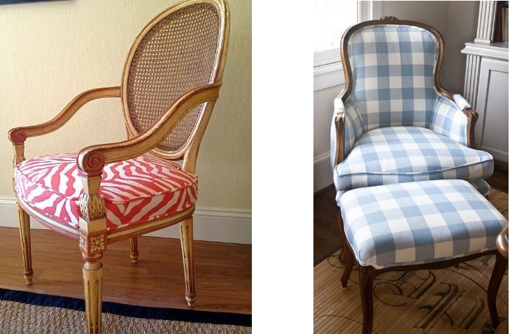 antique chair modern fabric.JPG