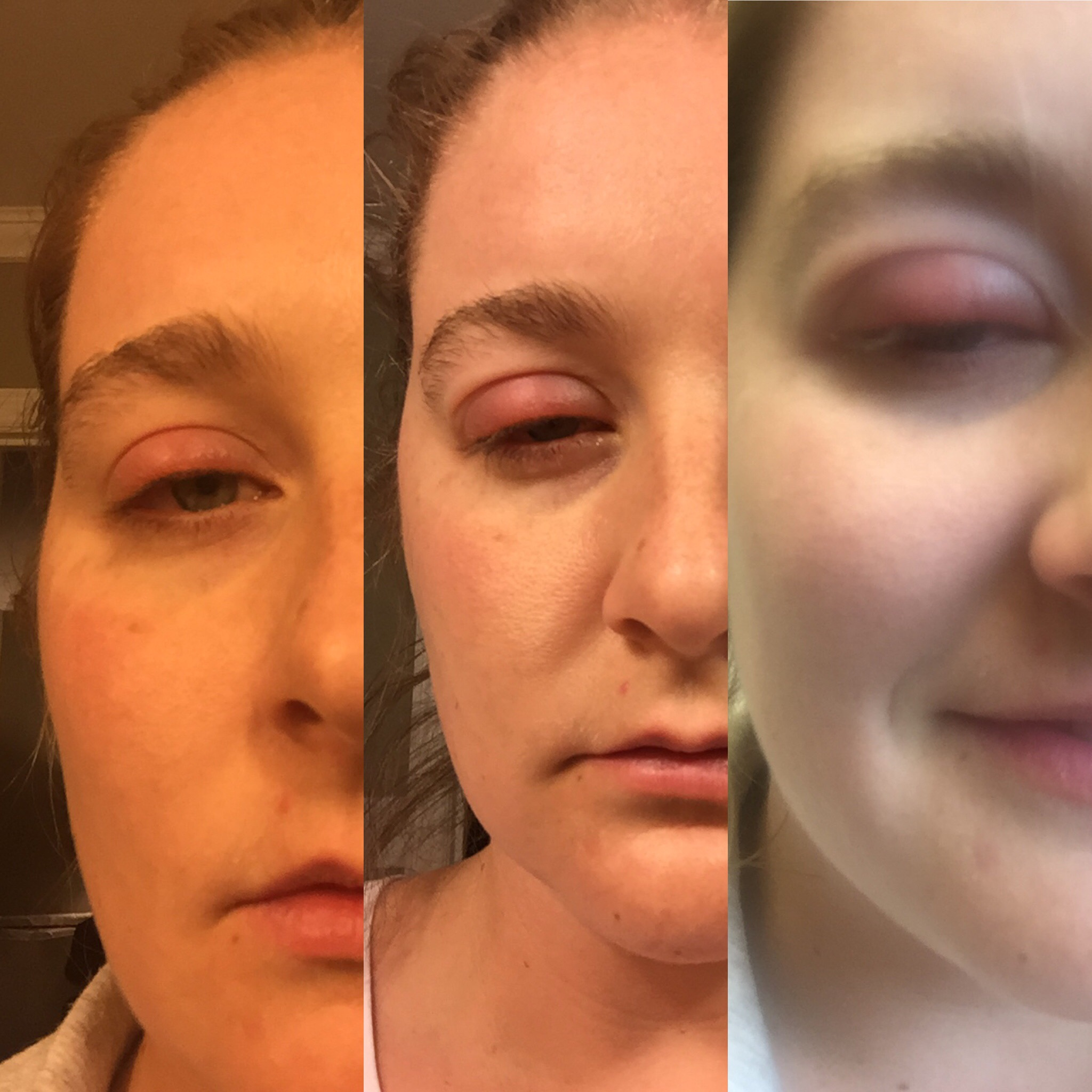 This is a 24hr progression... dang! 'Scuse the brows!