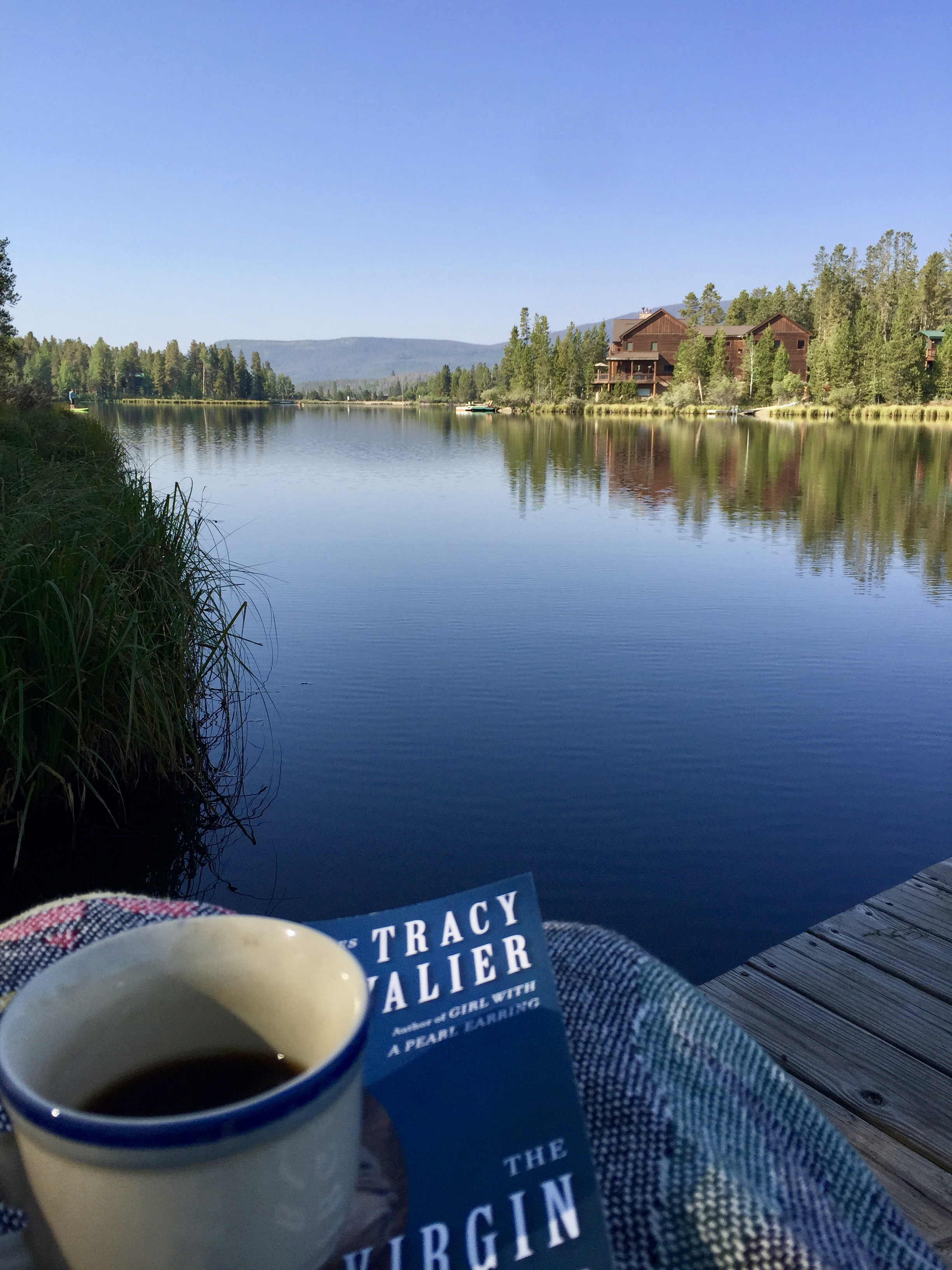 Morning coffee and a great book on our private dock. Basically how I wish every day of my life could begin.