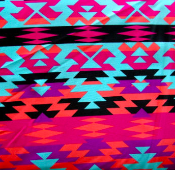 Pink and Teal Aztec