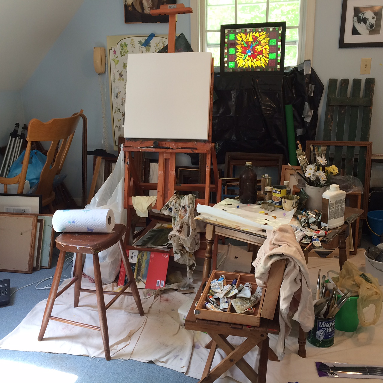 Studio in Hollywood, MD.  Humble, cluttered, but it serves my purpose.