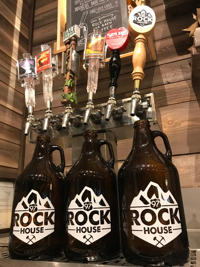 $10 Fill  - Every Friday 64 oz growler fill with a 97 Rock House growler