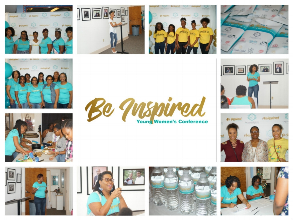 Be Inspired - Pouring into the hearts of young women is something our owner, Natosha Graham, has had a passion for and putting together a young women's conference seem to be a great way to do just that. June 2, 2018 we had our first of many young women's conference held at The Community Council of the Arts located in Kinston, North Carolina. The conference is designed to give young women between the ages of 16-25 motivation and inspiration to be great as they venture down their path in life. As well as providing helpful information to help them along the way. This year's topic was Finding & Loving Yourself. We brought in speakers that spoke on natural hair care, make up tips and tricks, appropriate undergarments, and more. Our keynote speaker was Jasmine Armstrong (Ms. Black NC 2018) who is a nationally certified, and licensed Recreation Therapist who graduated from East Carolina University in Greenville, North Carolina and she also owns Heart of the Matter.