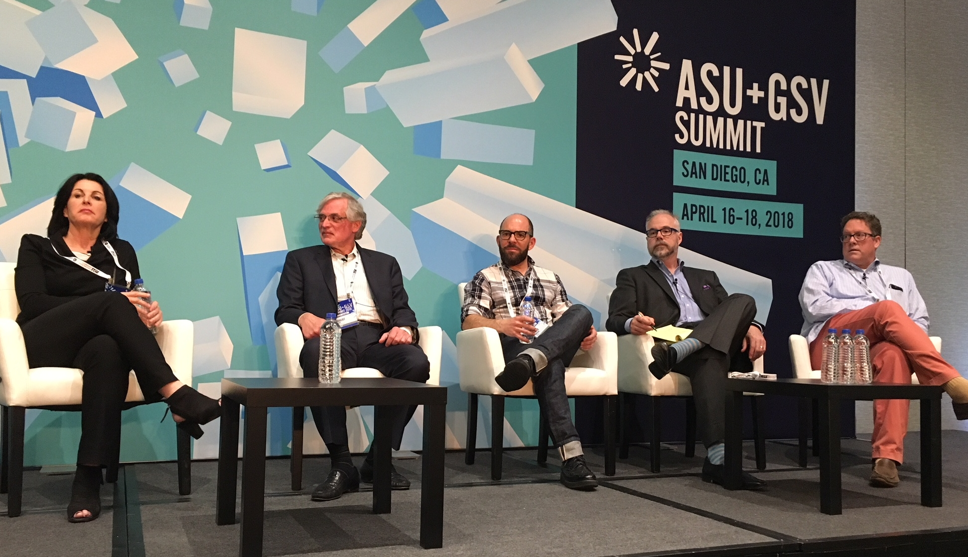 Panel discussion members from Degreed, Deloitte, Grovo, GSV, and USC discussed the ROI of Learning moderated by Claire Schooley at  ASU+GSV Summit in San Diego .