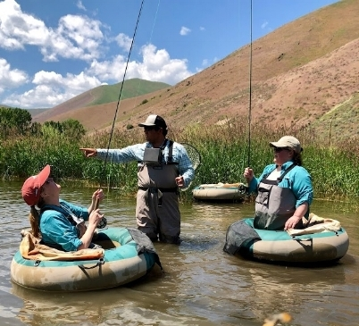 The group had fun too as we ventured into the world of fly fishing with excellent guides who eased the entry.