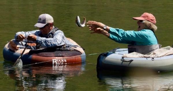Sometimes the fish were elusive!