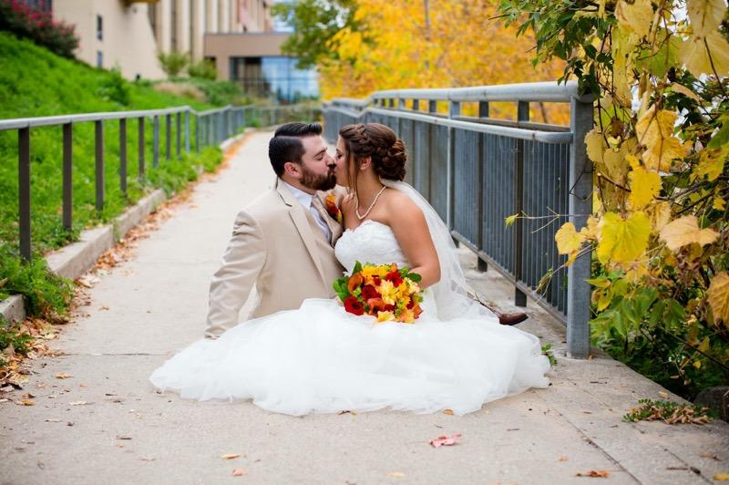 Bride and Groom in Grand Rapids