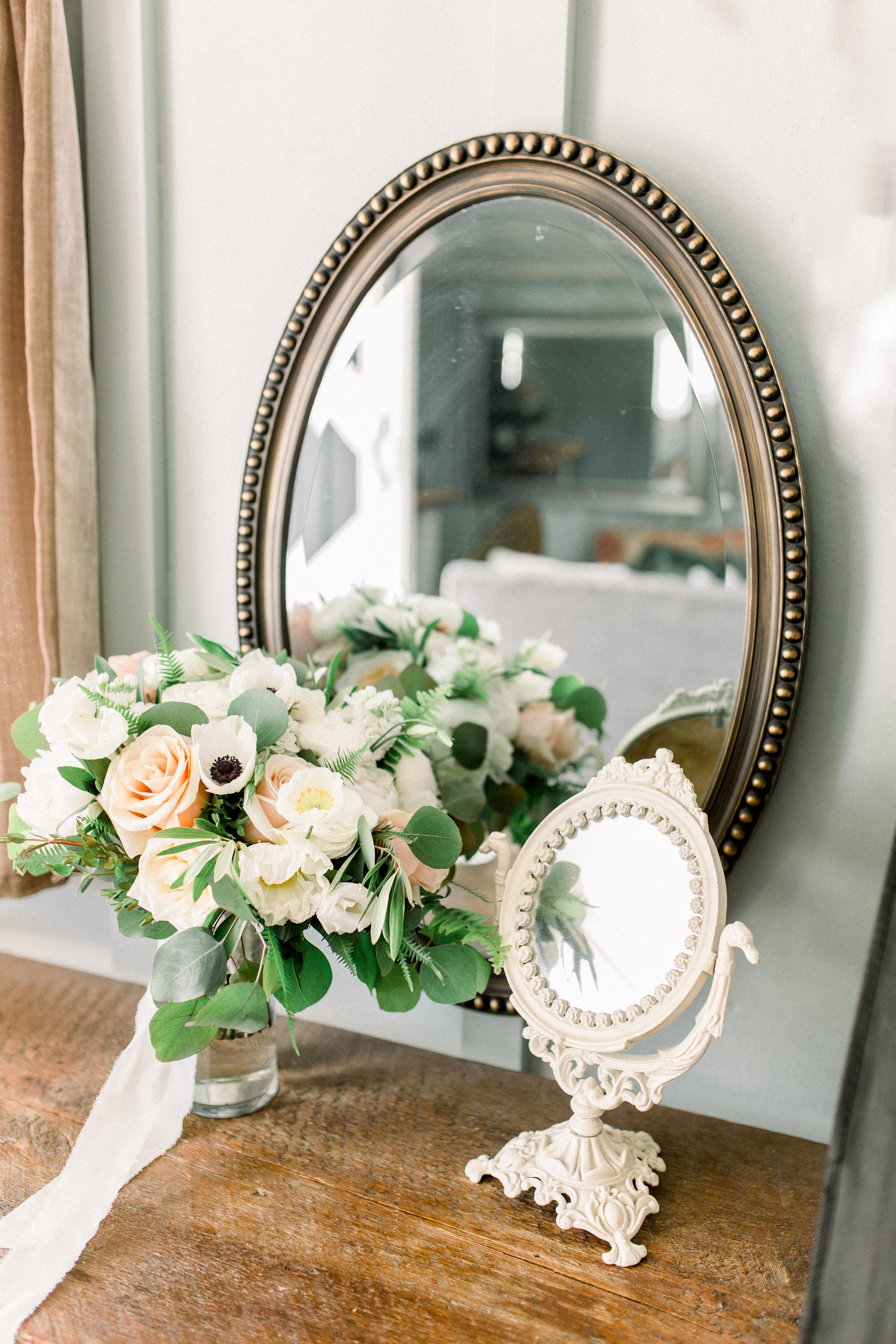portrait of bride bouquet