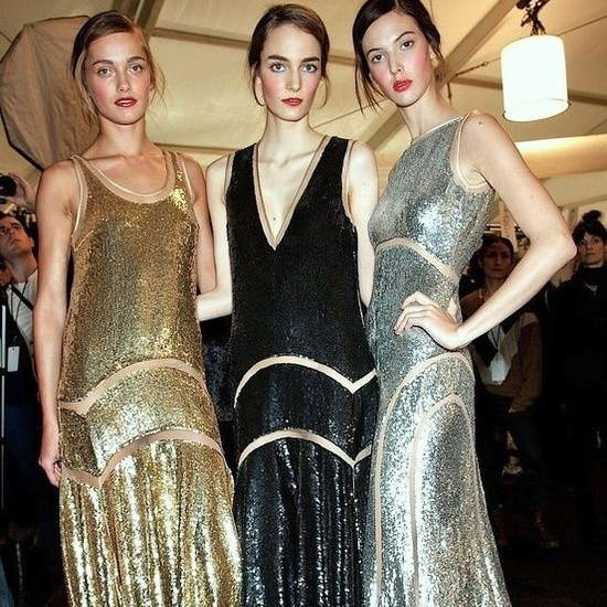 1920's Gatsby Theme - What better way to dance your feet off than in traditional 1920's flapper garb? Image from backstage at Michael Kors F/W 2012 show.