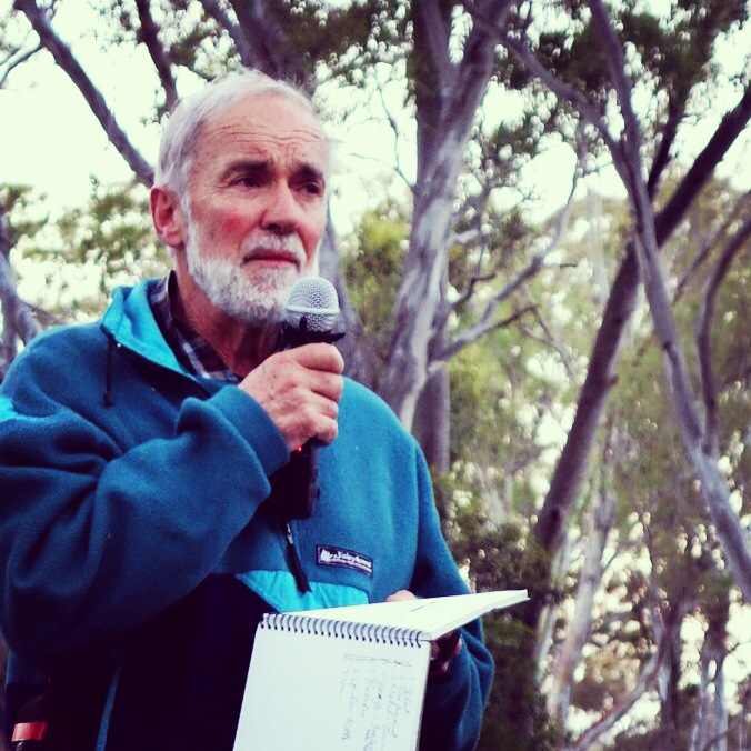 Peter Jackson at the Arapiles 50th Climbing Anniversary. Photo by Chelsea Brunckhorst