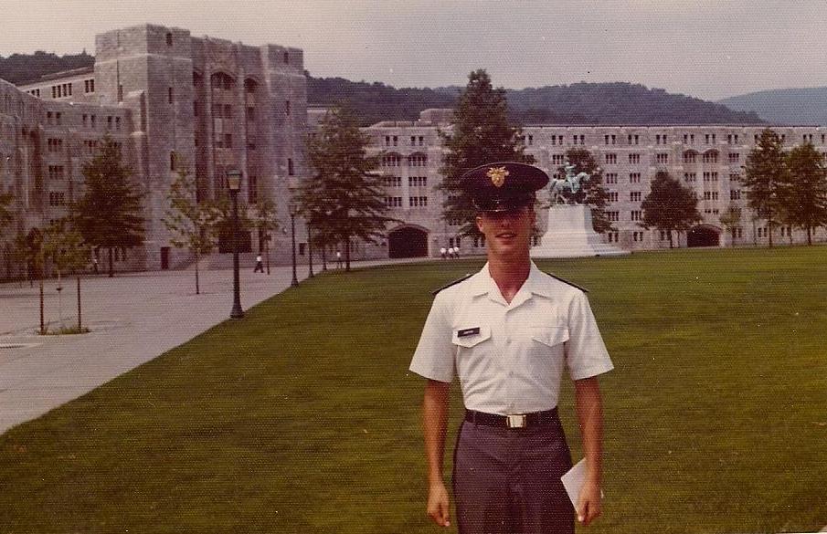 David Carter as a plebe in 1977