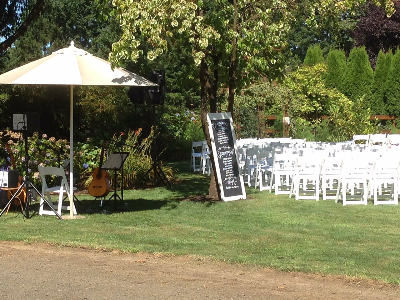 Wedding Ceremony Setting at Willamette Farms