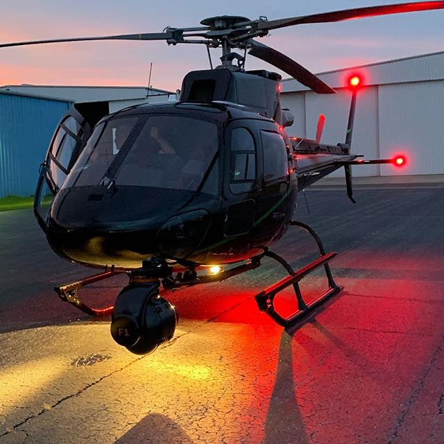 Shutting down after a long day of #aerials in #georgia with @eliterotorcraft and our @shotovercamera #shotoverf1 #sunset #lit @reddigitalcinema @angenieuxlenses @airbus_helicopters @meekeraviation