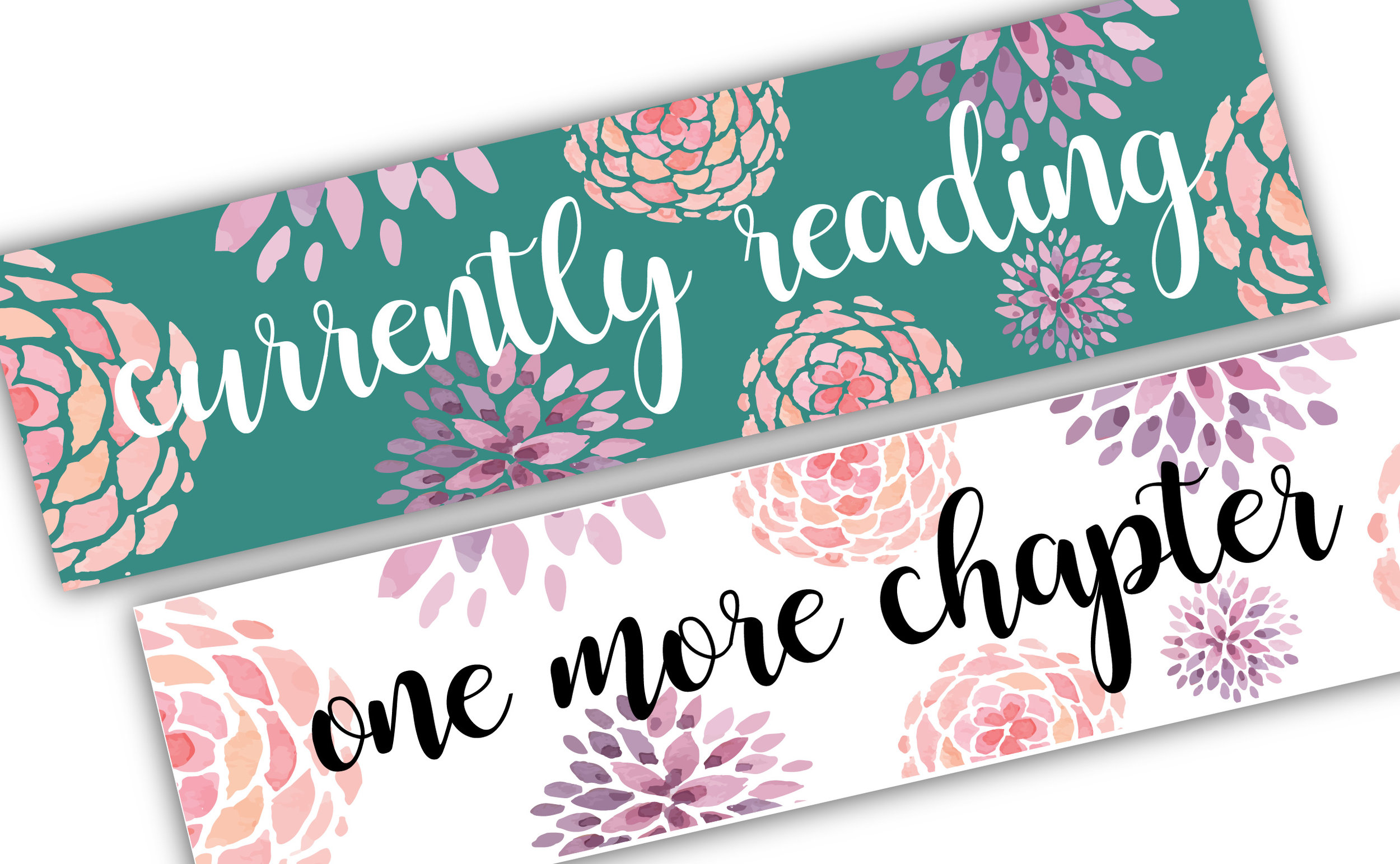 Set of 2-sided custom designed bookmarks -