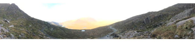 Panoramic View From an Outlook on Connor's Pass, En Route to Dingle Ireland