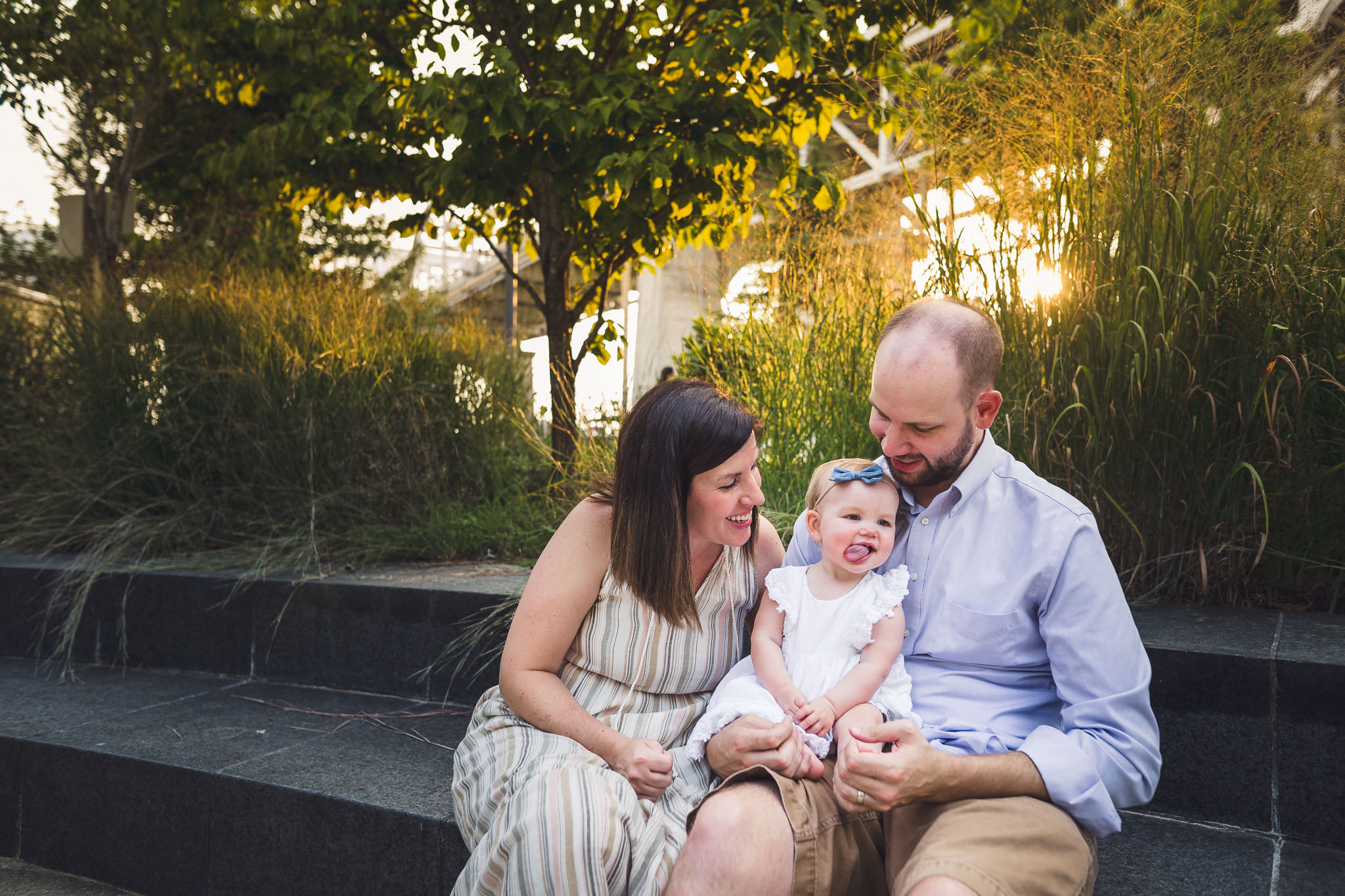thomas wywrot photography nashville family photographer tennessee tn pictures photos newborn baby infant brentwood franklin sunset outdoor candid lifestyle park cumberland sticking out tongue
