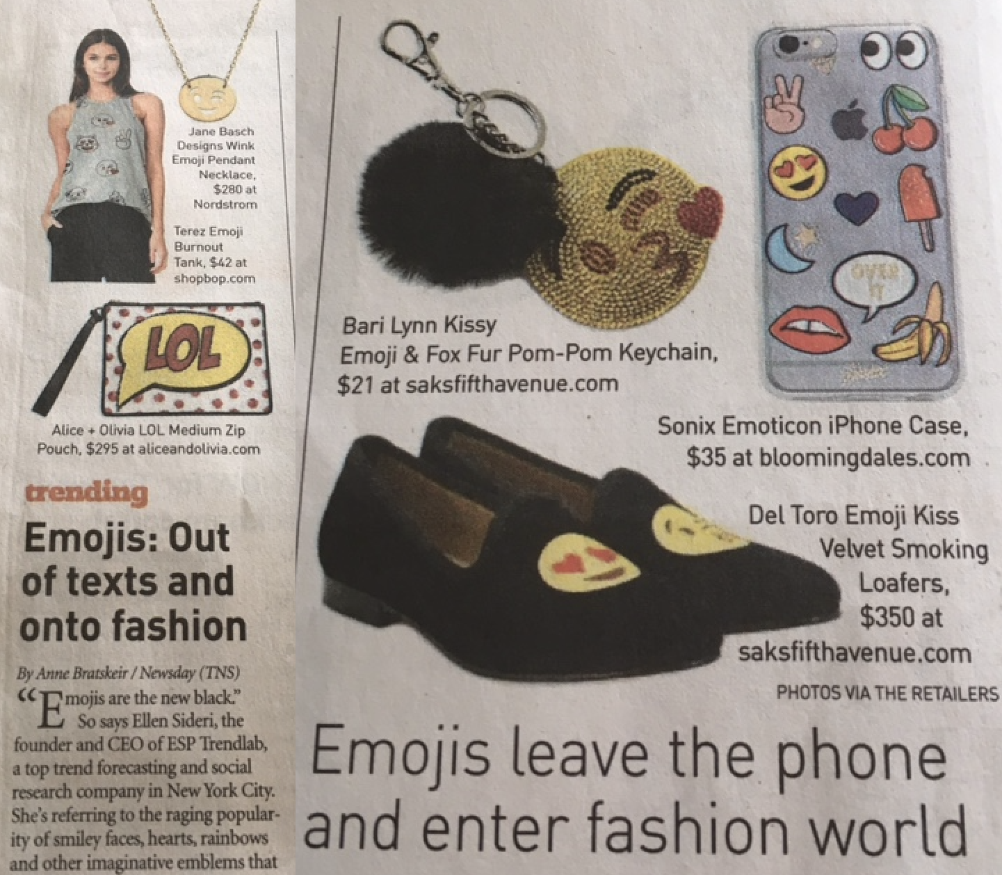 Emoji leave the phone and enter the fashion world #trendy