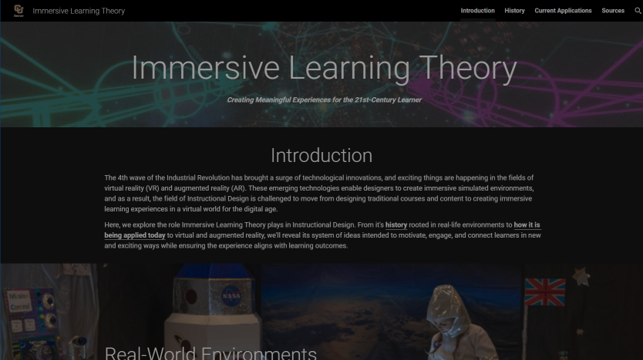 Immersive Learning Theory - Click to launch