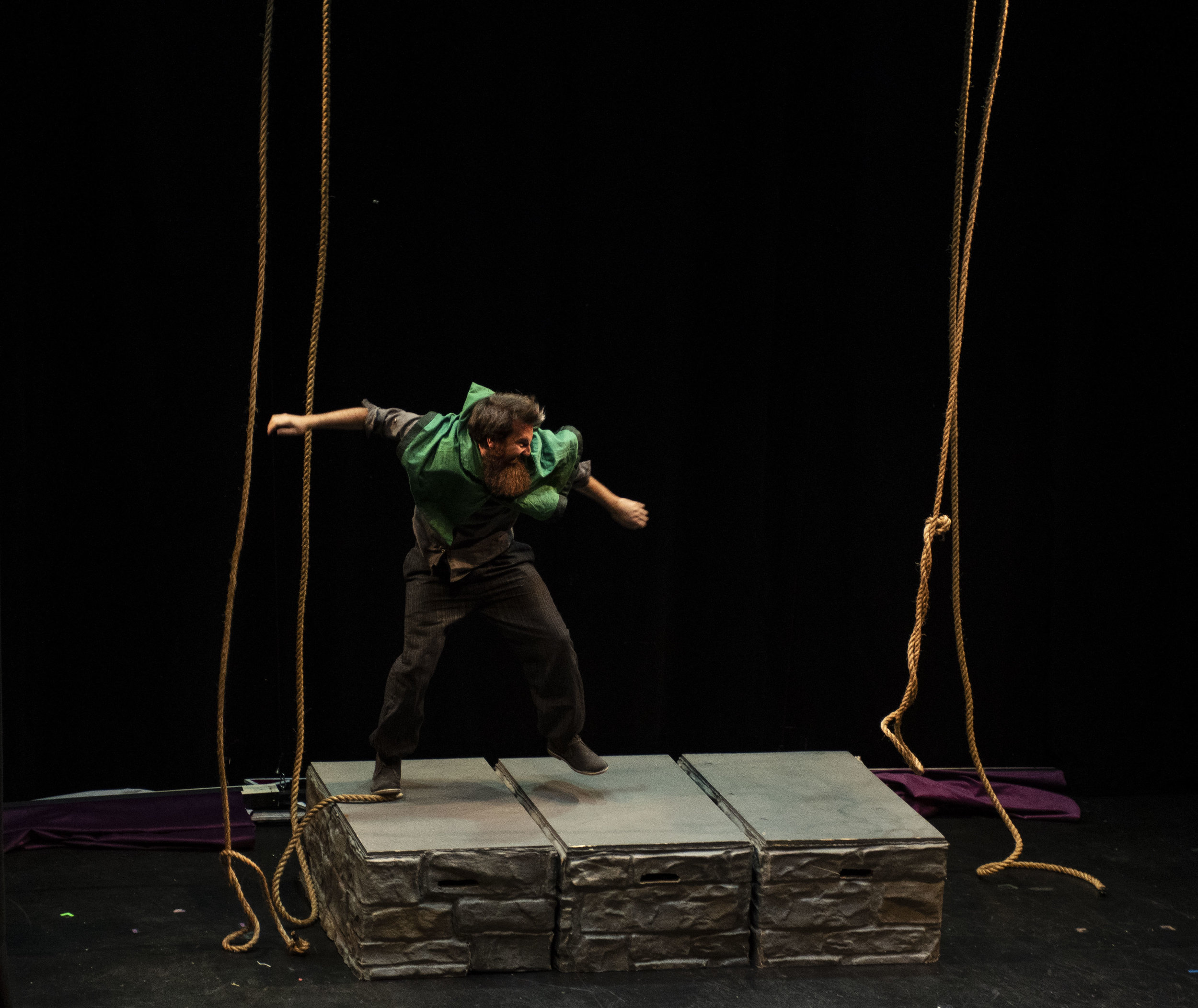 Andrew Morrill (Quasimodo) with his bells Dancing Girl by Shoshana @bwaySHO.jpg