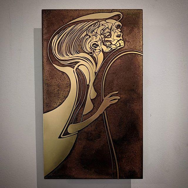 Sonata 1  Etched brass  7x12  #nicholasknudson #drknudson #brass #brassart #etchedbrass #dtla #sonata #metalart #losangelesartist #losangelesart