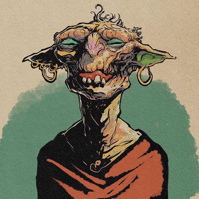 Blimblar. A gracious host. #drknudson #nicholasknudson #illustration #blimblar