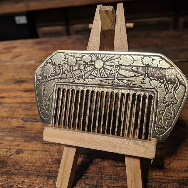 Custom handmade deco wallet comb for @senorbenip  #nicholasknudsonart #drknudson