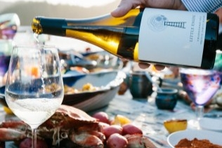 "August 2018 - Nimmo Bay: A Partnership of Dreamers - ""Bringing their sophisticated Naramata wines into the dining room as the house pour."""