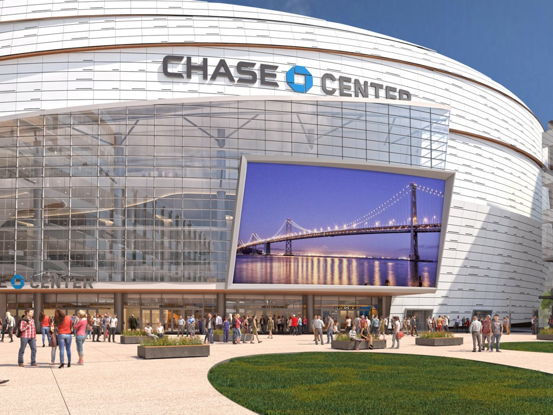 A render of San Francisco's Chase Center, the new home of the Golden State Warriors.