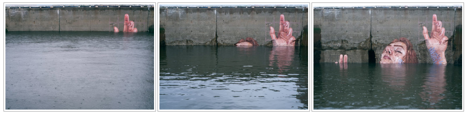 """Touched by this    powerful and heartbreaking work    of """"artivism"""" from Canadian artist Sean Yoro"""