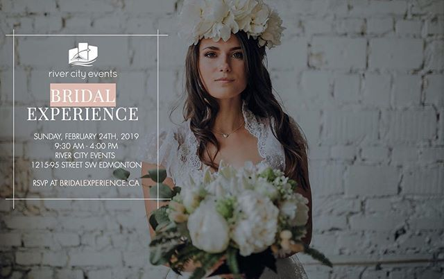 We are excited to be a vendor at Bridal Experience 2019 on February 24th, hosted by River City Events. There will be tastings, workshops, and so much more! You also get 25% off all regular in stock event rentals that day only. This free event features Edmonton's top wedding vendors, exclusive promotions, great prizes, trends, designs and workshops. #RCBridalExperience