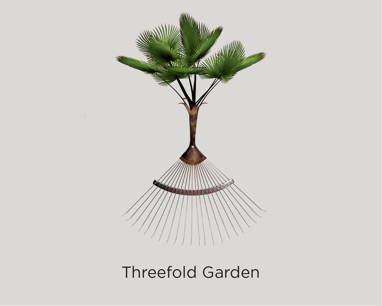 A plant sprouting out of a rake - Threefold Garden