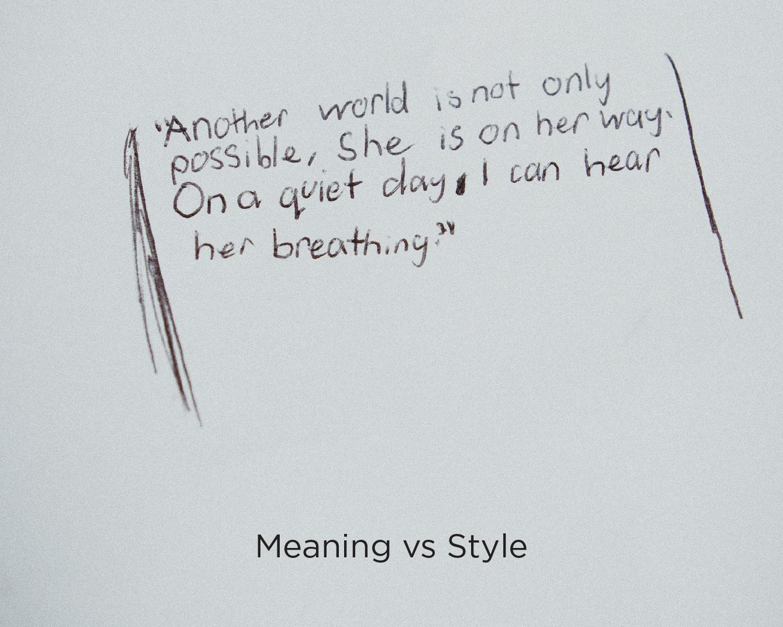 Hand-written poem