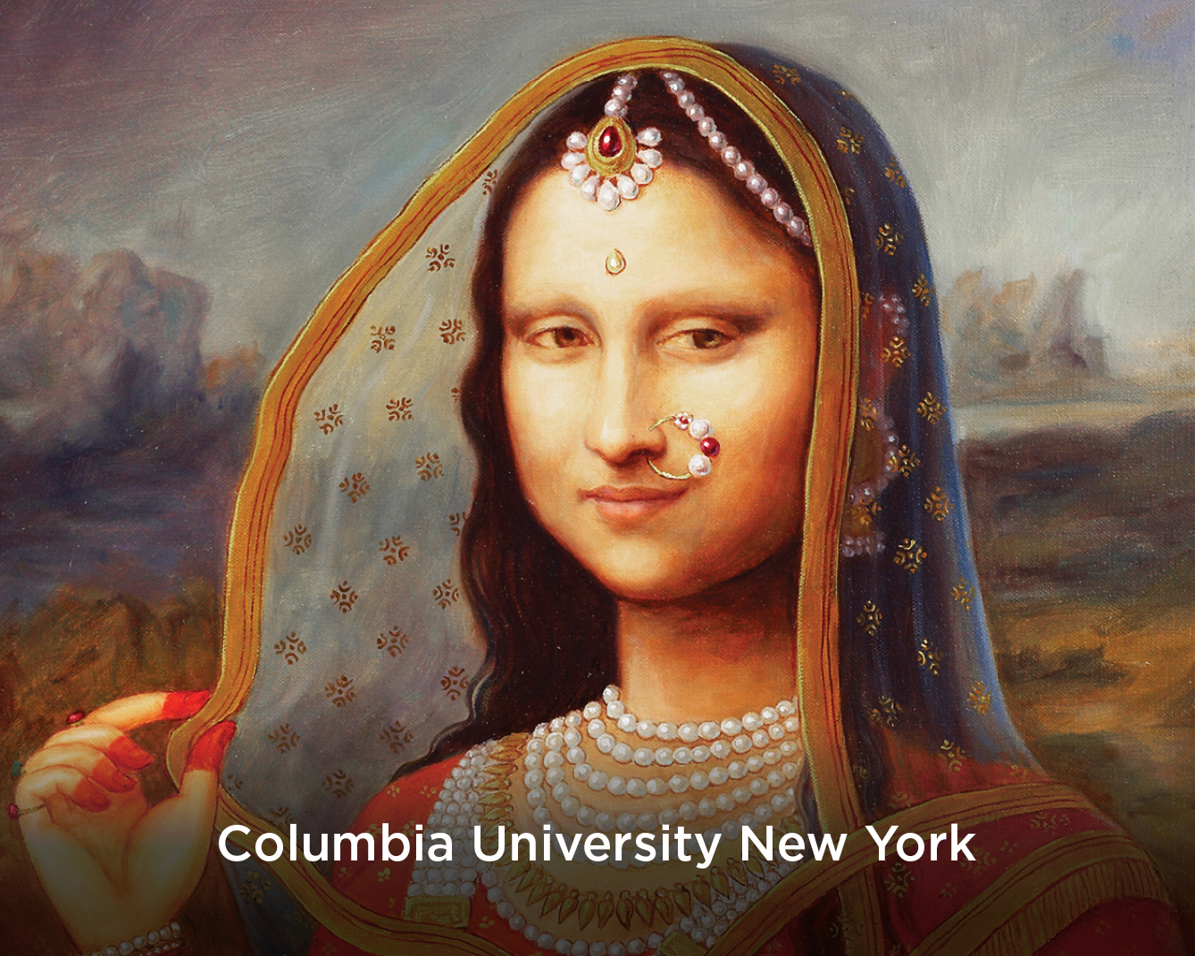 Edited version of the Mona Lisa in Indian garb