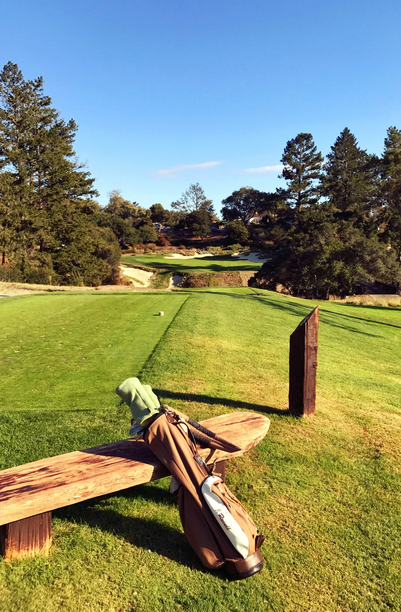 The eighteenth hole at Pasatiempo, a courageous one shotter.