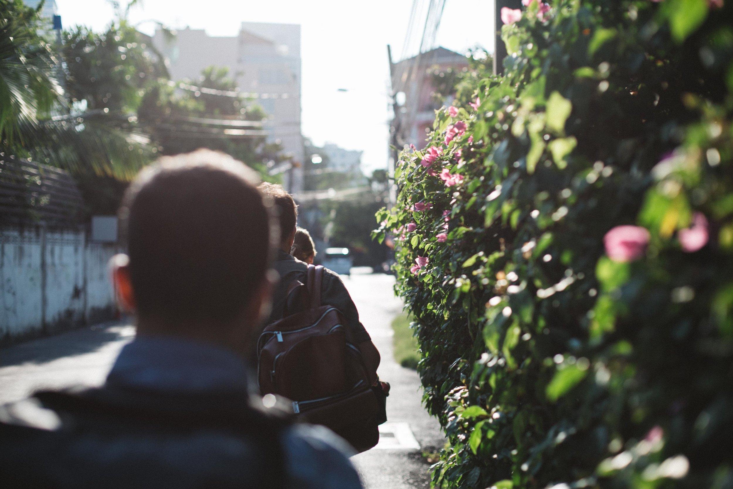 Alley Way Walking Bangkok