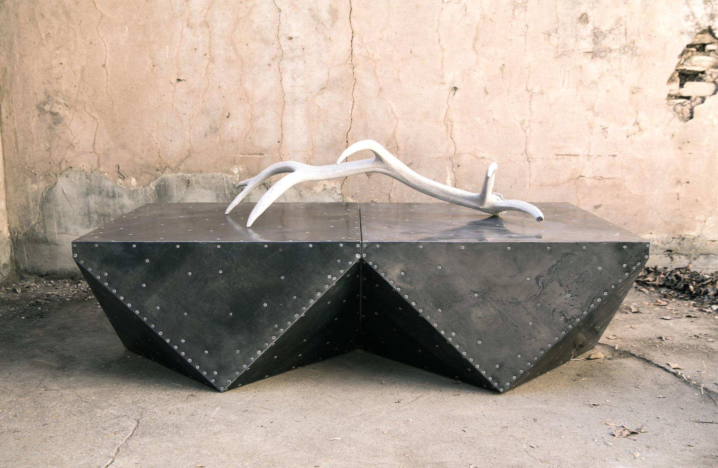 ben-riddering-Cubodron-steel-clad-industrial-modern-coffee-table