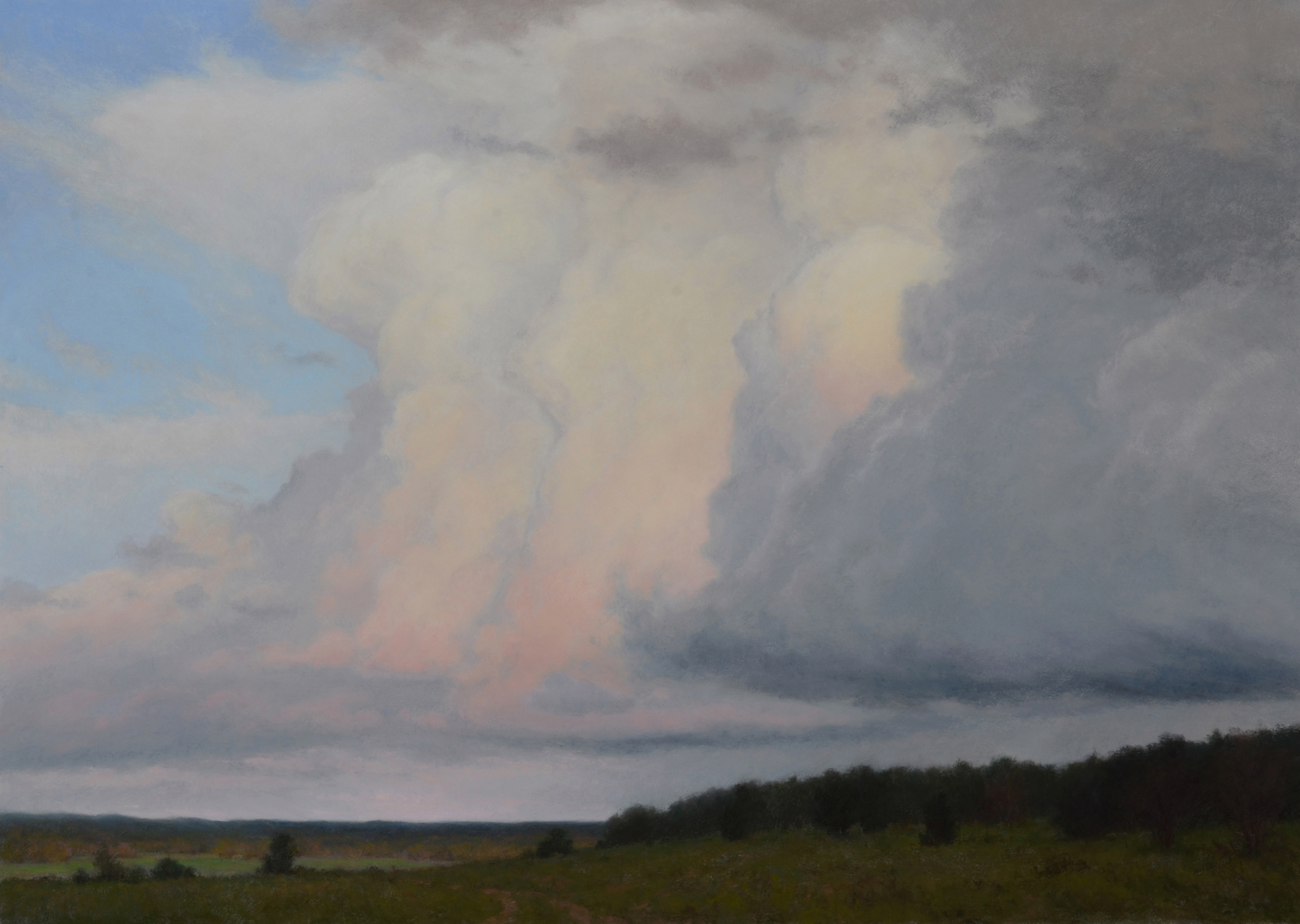 """Rolling Thunder ~ Ps 57:10""  28.5"" x 40"" Pastel on board"