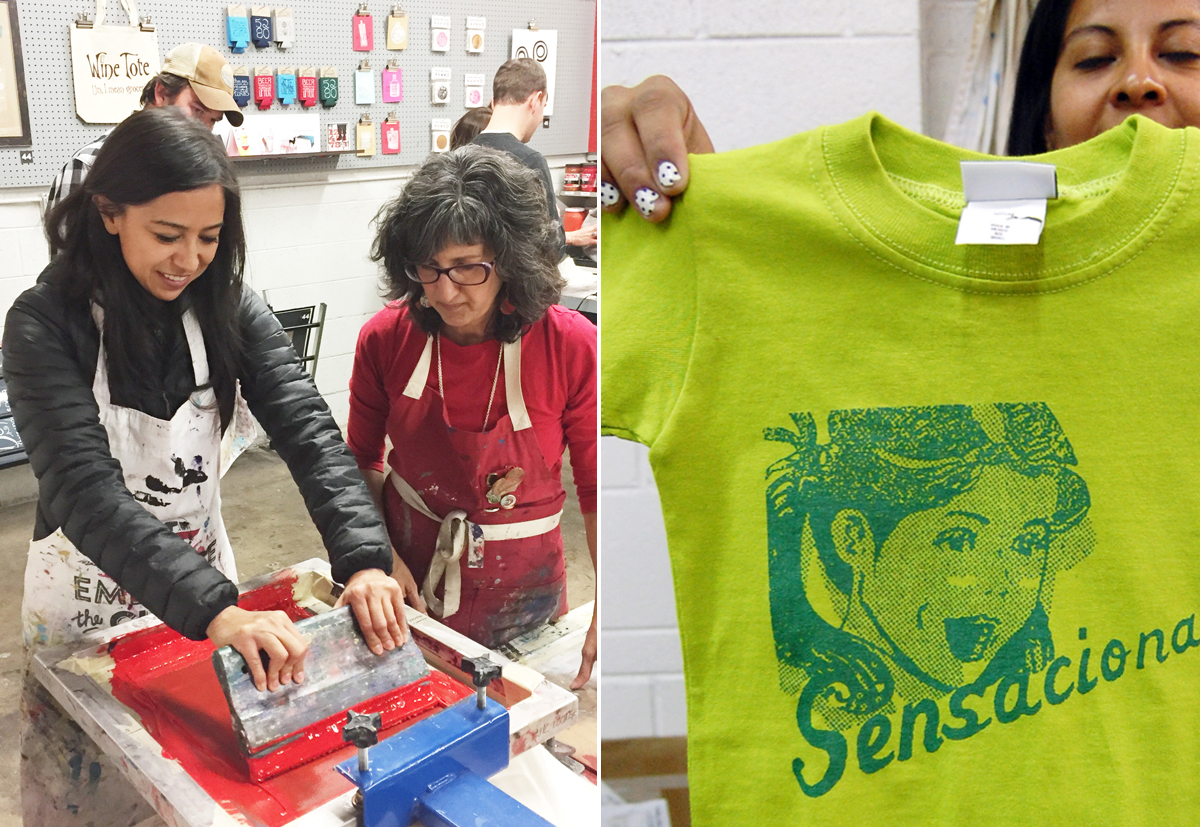Wednesday CraftShop: Sweet TEE printing - March 14, 20186:00 PM - 8:30 PMCost:$35 (fabric not included)Ink Lounge29 South Fox St., Denver, CO 80223