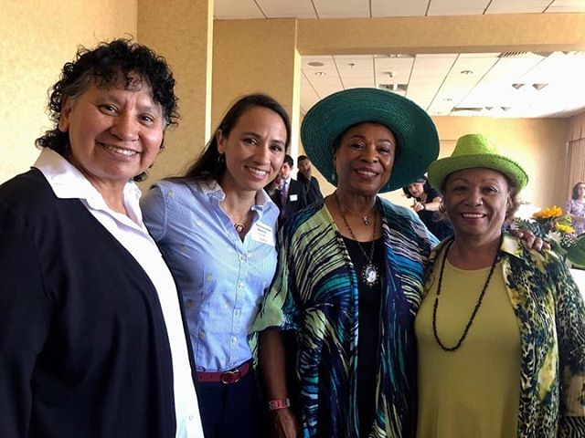 Celebrating #MothersDay at a Mother's Day tea with Rep.Sharice Davids (2nd from L), Sharice's mother (farL); Congresswoman @repbarbaralee #BarbaraLee and her sister, Mildred Whitfield.  Barbara Lee with filmmaker #abbyginzberg  Barbara Lee with her sisters, Beverly ( L), Mildred (R) and Auntie Lois(2nd from R)