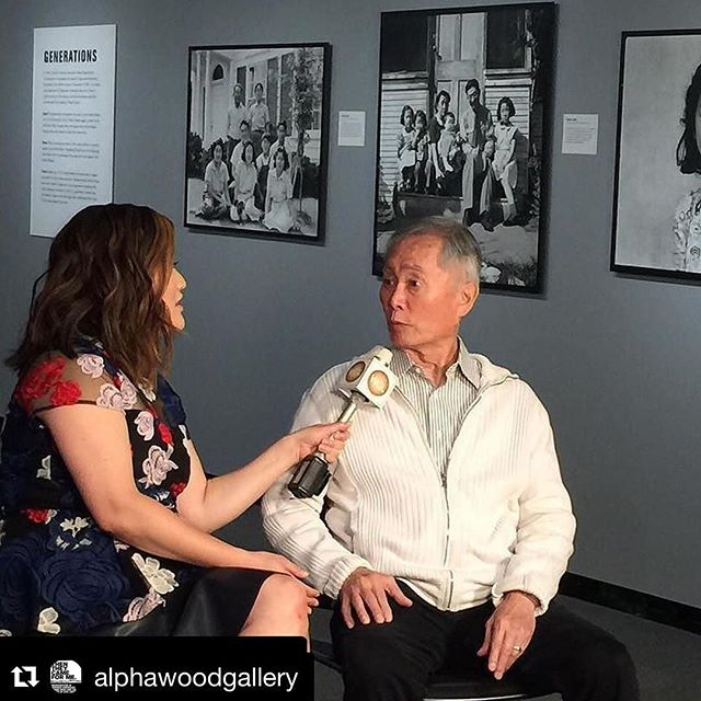 #Repost @alphawoodgallery ・・・ #Repost @thentheycamedoc (@get_repost) ・・・ @georgehtakei visited @alphawoodgallery with students From the Kansha Project. Also being interviewed on live TV WCL. #thentheycamedoc #andthentheycameforus #filmsforjustice @filmsforjustice @patchworksfilms #equality #peace #documentary #film #history #japaneseamerican  #resist #socialjustice