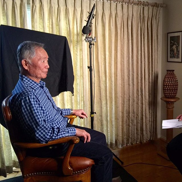 Interviewing @georgehtakei for our film @thentheycamedoc premiering next month at @doclands