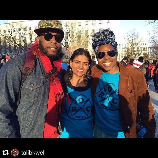 #Repost @talibkweli ・・・ With @SaraJayaramna of ROC United and @jessicawyntermartin of ROC DC #womensworkersrising #internationalwomensday