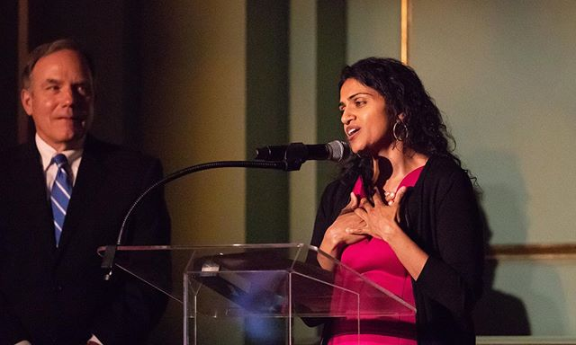 "Saru Jayaraman Wins 2019 SF Visionary of the Year Award!  The award honors leaders who strive to make the world a better place and drive social and economic change by employing new, innovative business models and practices. Saru ""has made a mission out of giving a louder voice to workers, especially women and people of color, two groups that have been shown to be marginalized in the restaurant industry."" Congratulations to Saru on this  well-deserved recognition! Saru Jayaraman a relentless advocate for marginalized restaurant workers  Photo: Paul Kuroda/SF Chronicle/Polaris  69.3% of Waiters & Waitresses are Female @sarujayaramna @roc_united @onefairwage #1fairwage #sarujayaraman #wagingchange"