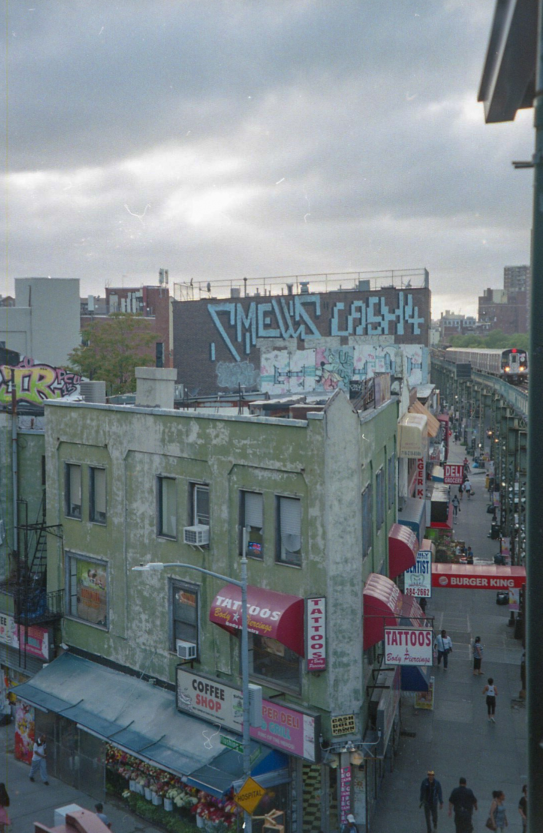 Broadway & Myrtle on 35mm Film - click photo to see more street art and graffiti